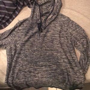Large Men's American Eagle Hooded Fleece Sweater